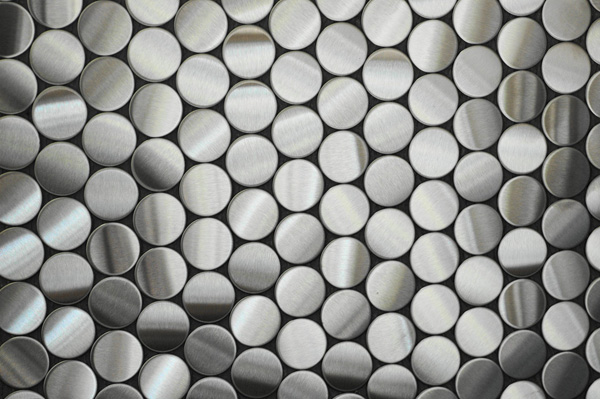 Penny Stainless Steel Tile By Alloy Archello
