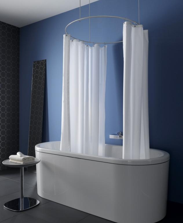 Phos Design curved shower curtain rod as a circlephos design gmbh | archello