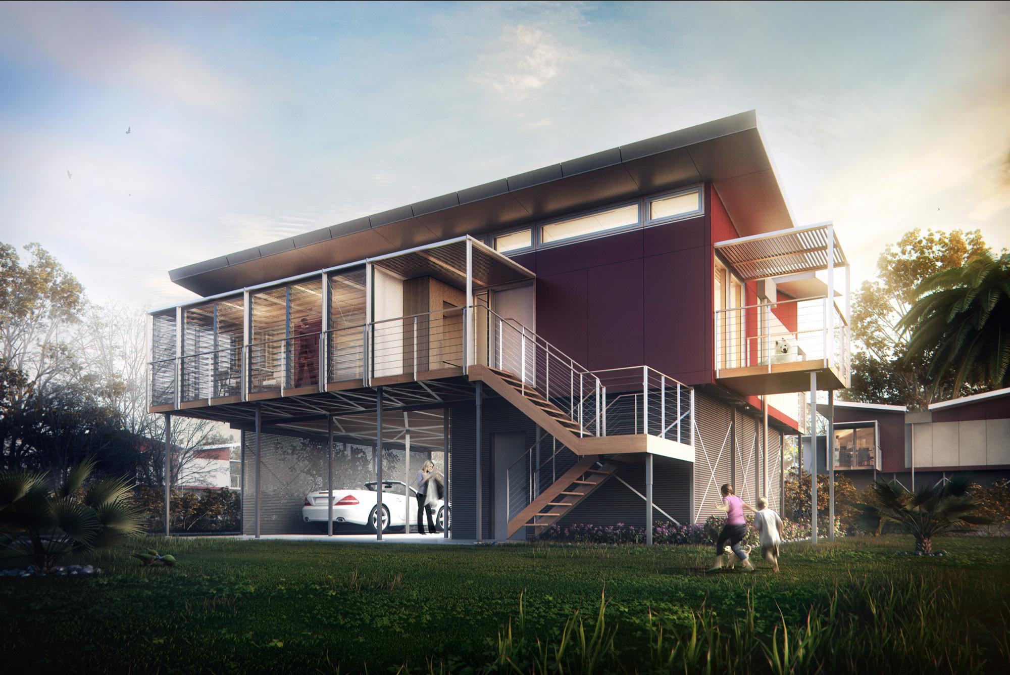 Kiribati House Mer 234 Ces Arch Viz Studio Archello