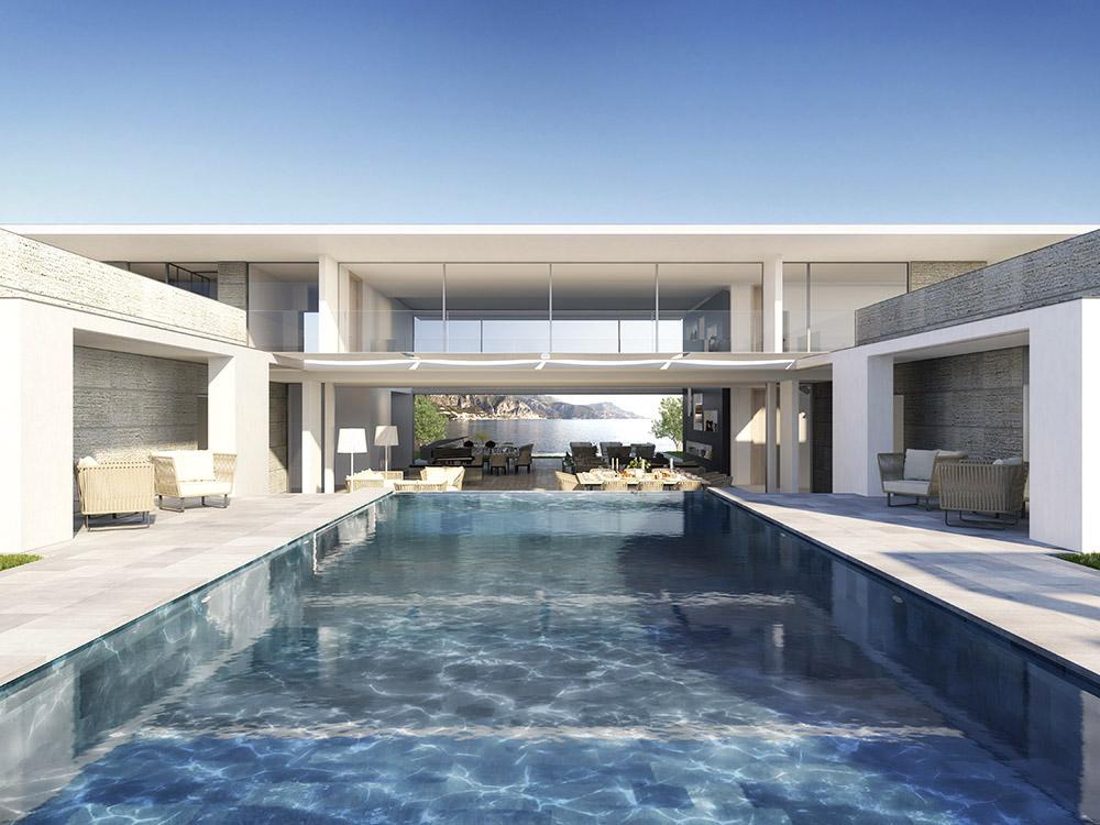 Architectural Visualization Of A Luxury Villa In Saint