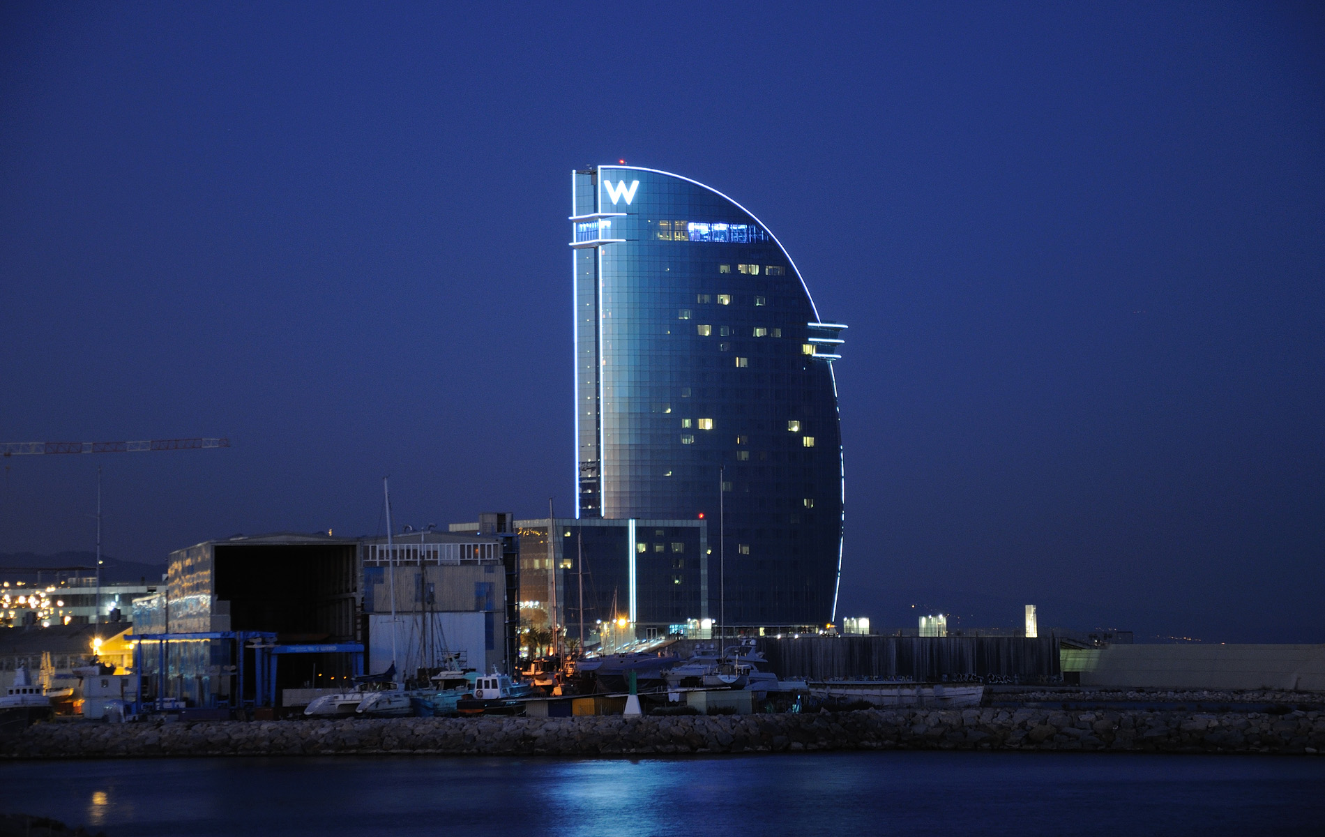 Hotel w barcelona ricardo bofill taller de arquitectura for Hotel w barcelona restaurante