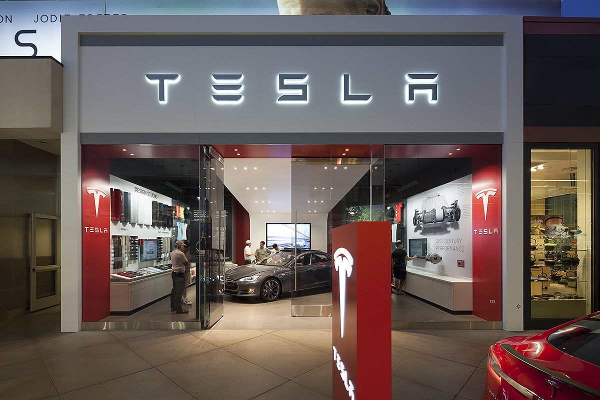 Tesla Showroom Mbh Architects Archello