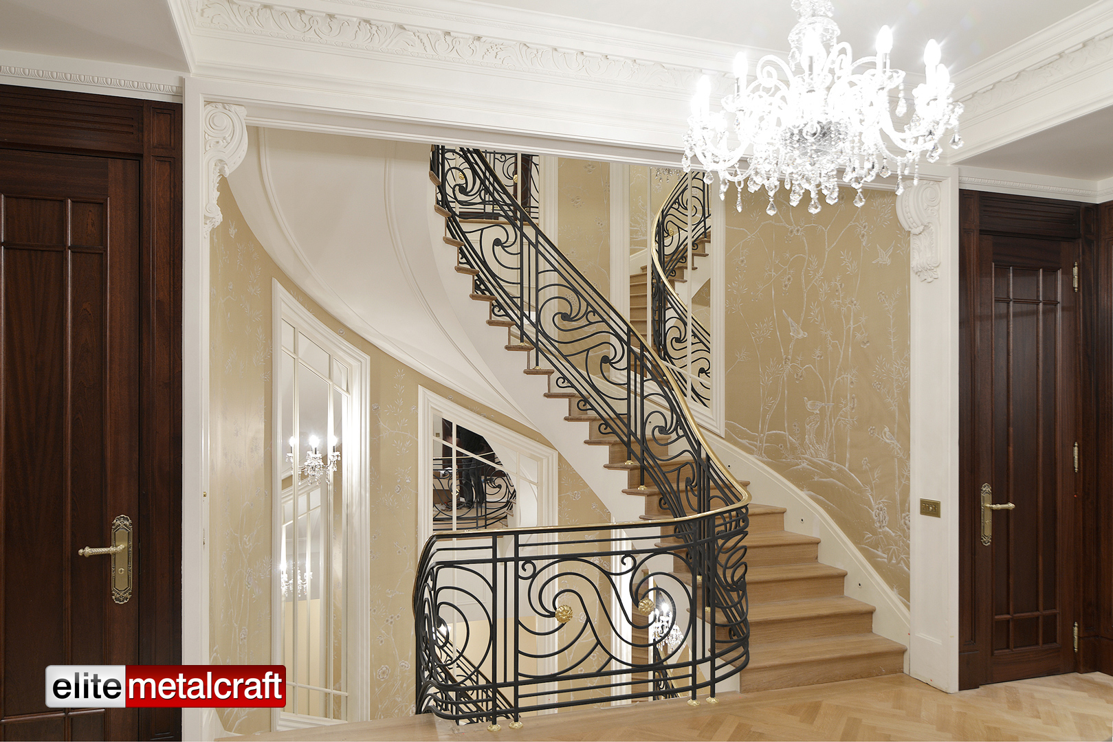 Queens Gate Mews Helical Staircase With Brass Handrail Elite