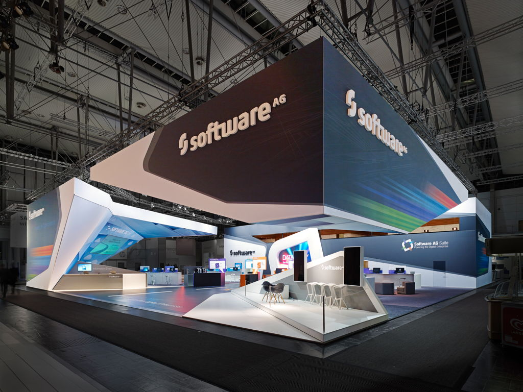Exhibition Stand Design Hertford : Trade fair stand software ag cebit in hanover
