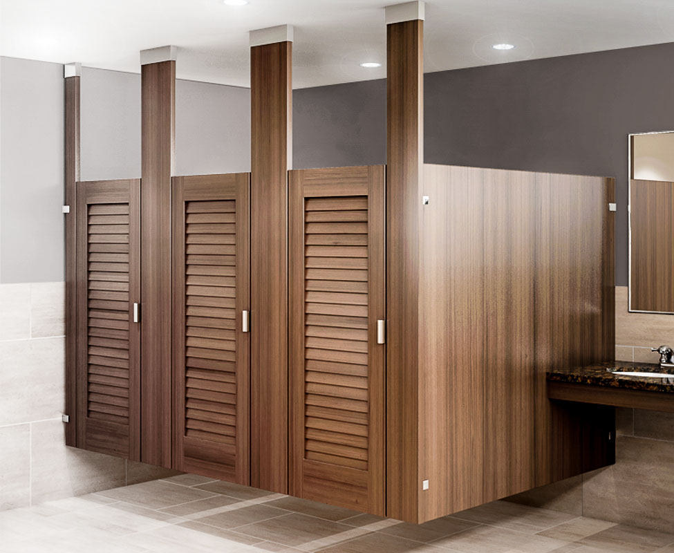 Louvered Restroom Partition By Ironwood Manufacturing Archello - Used bathroom stalls