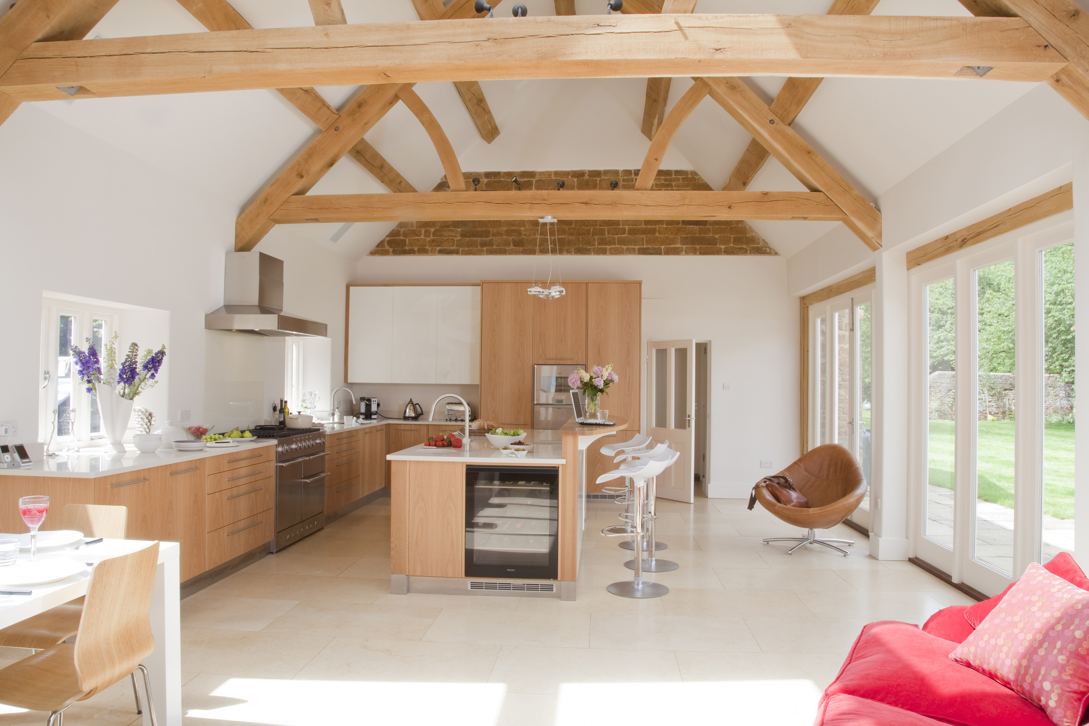 Kitchen With Beams By Woodstock Furniture Archello