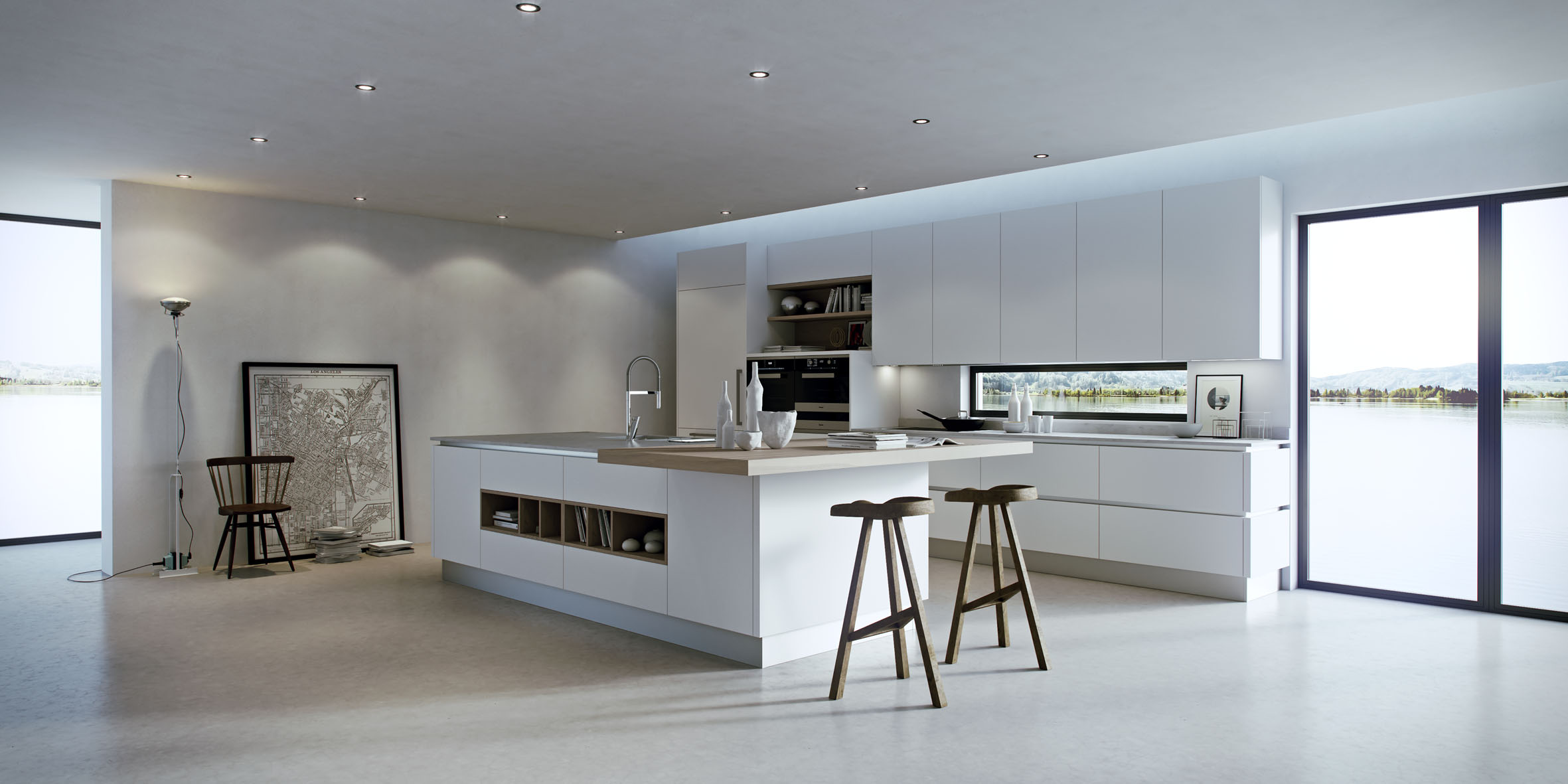 Ainoa by record cucine srl archello for Luminarias para cocina
