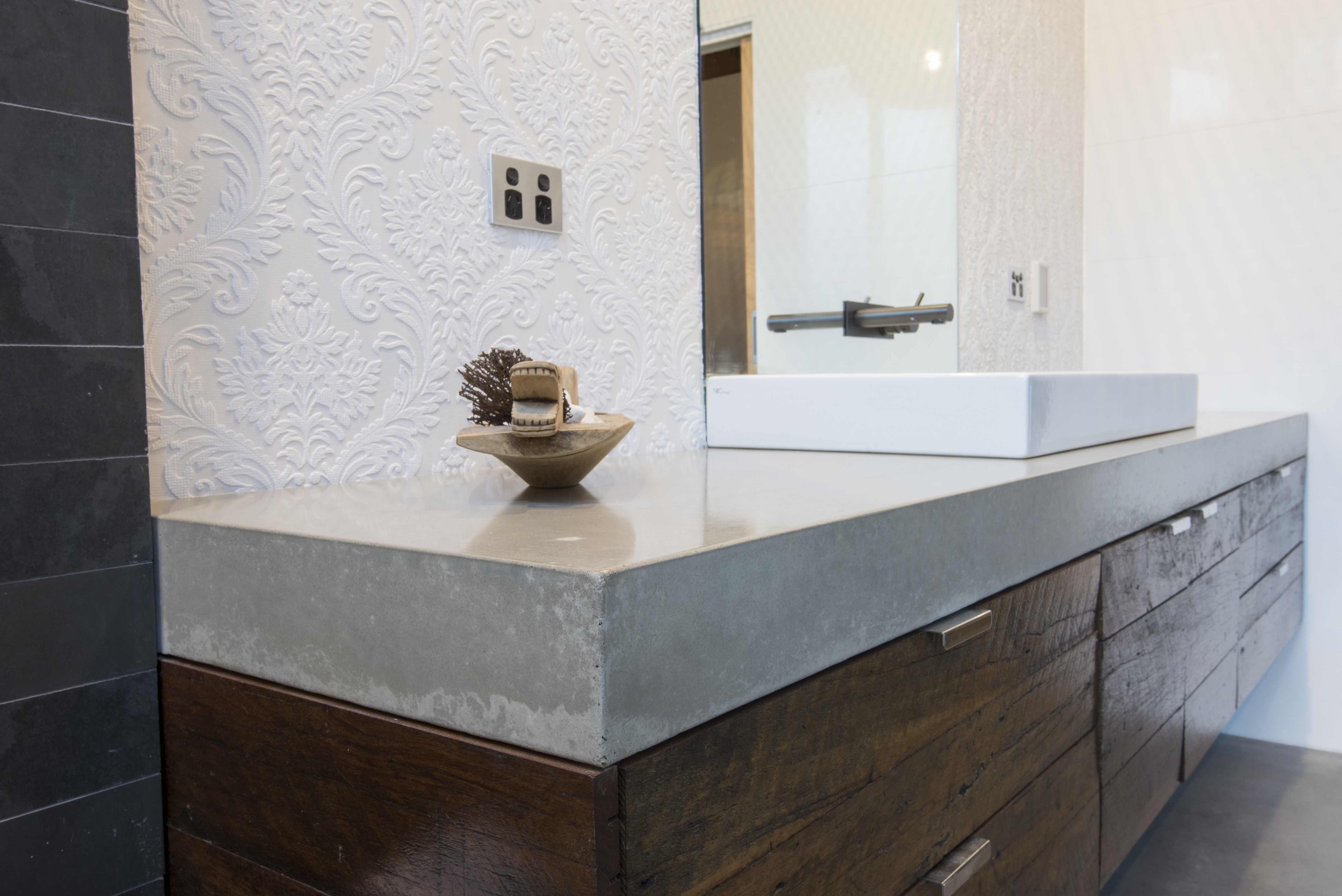 Concreate Polished Concrete Bathroom Bench Top By