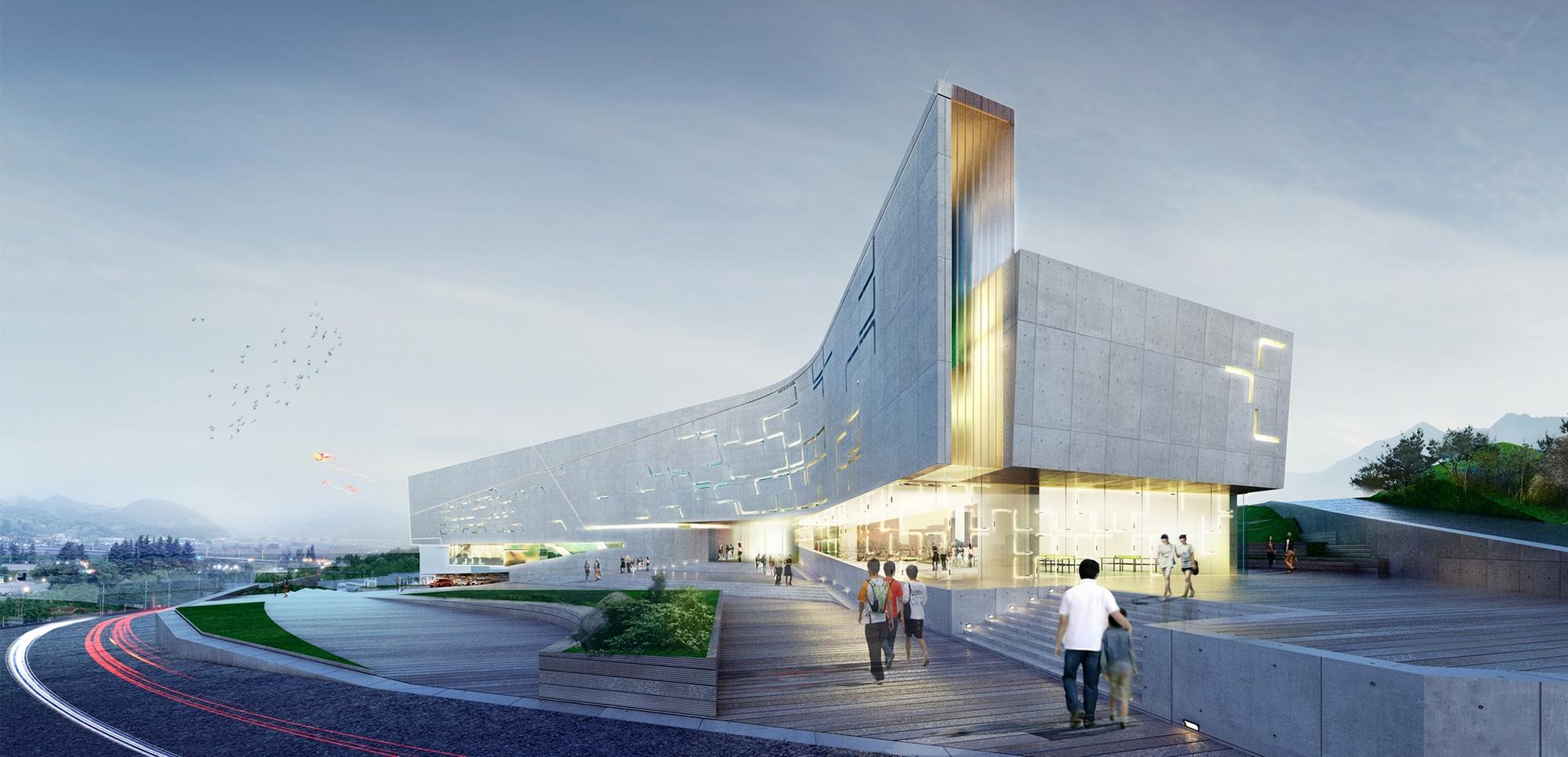 Sports Complex Project For The Daegu Gun Region City South Korea
