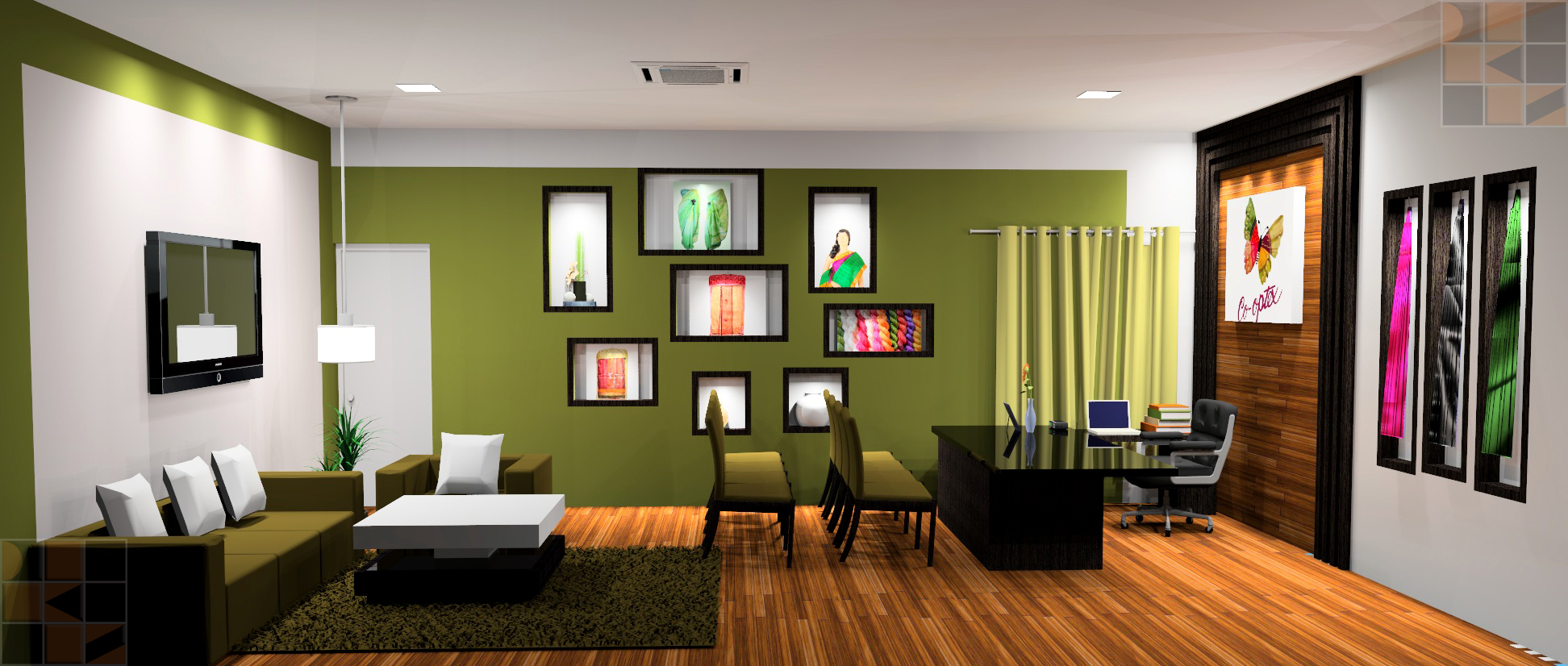 office interior design for cooptex m d s cabin chennai d sign k