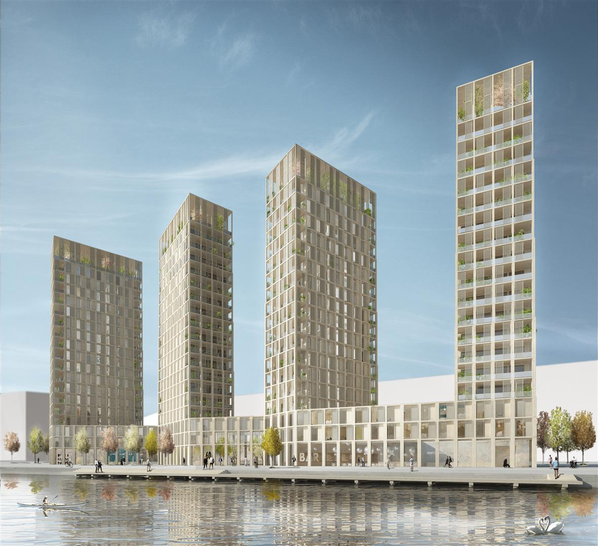 High Rise Apartments: Wooden High Rise Housing In Stockholm