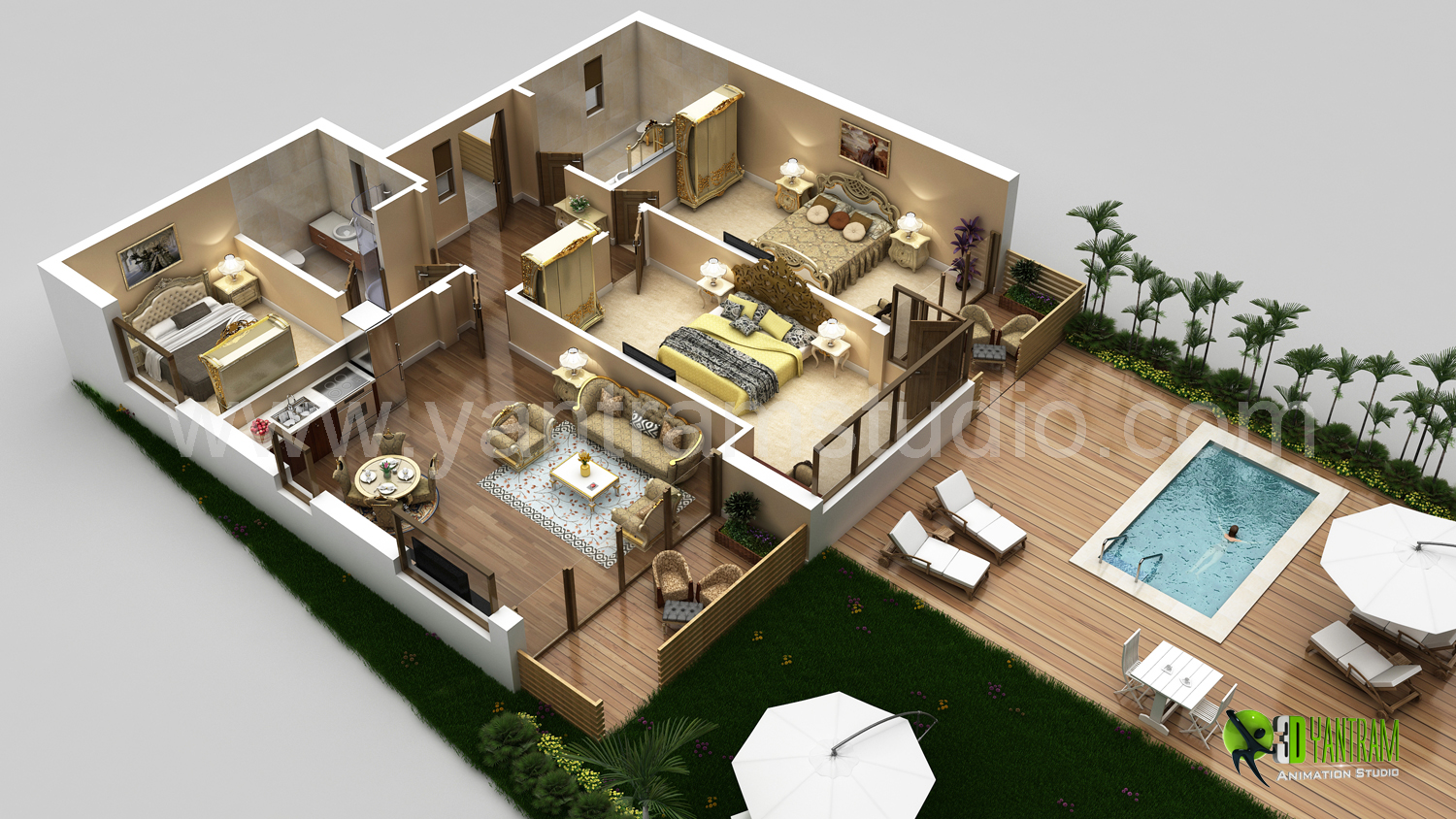 3D Floor Plan Designs | YantramStudio | Yantram Animation Studio | Archello