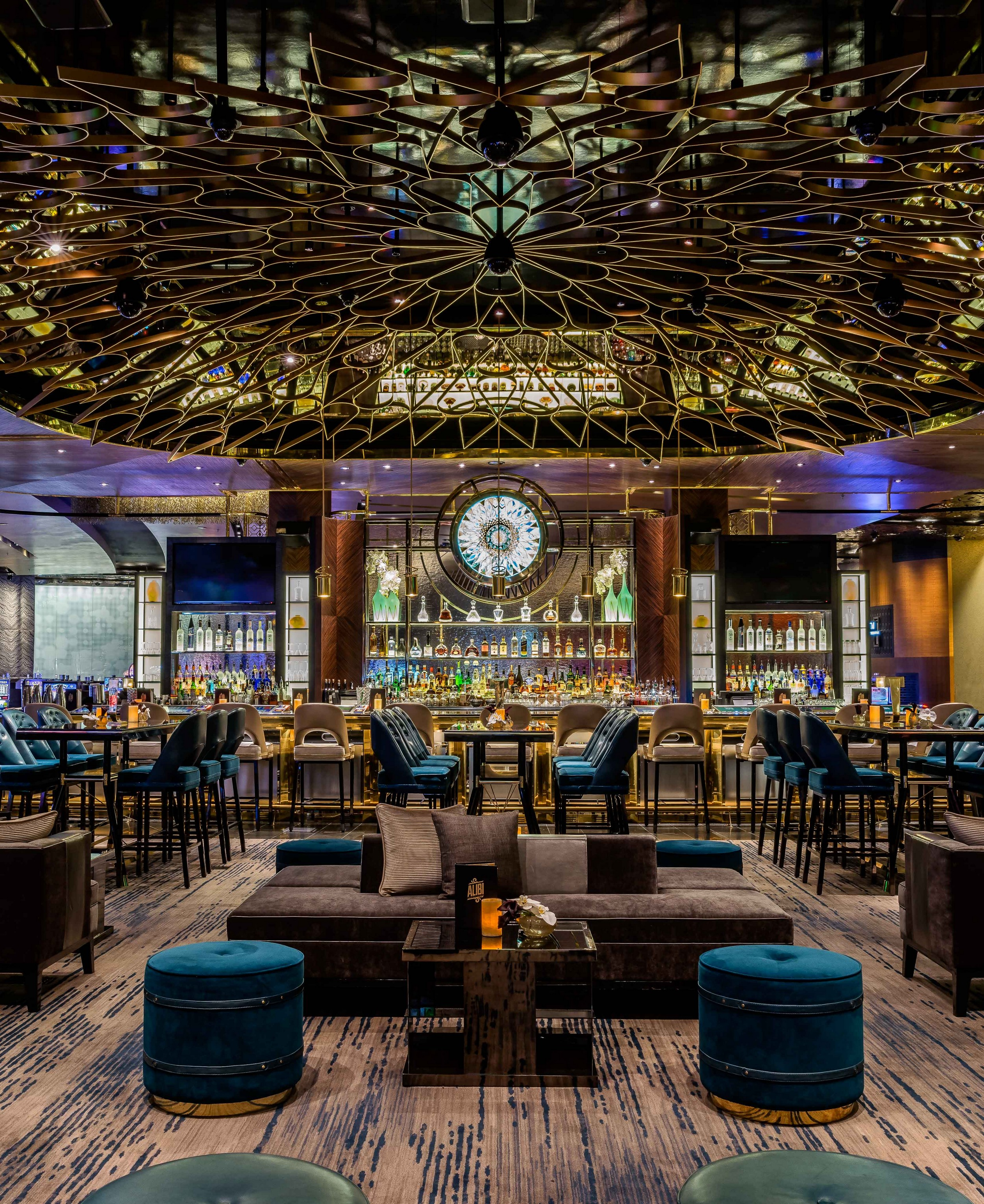 Inside A House In Los Vegas: ALIBI COCKTAIL LOUNGE AT THE ARIA RESORT AND CASINO
