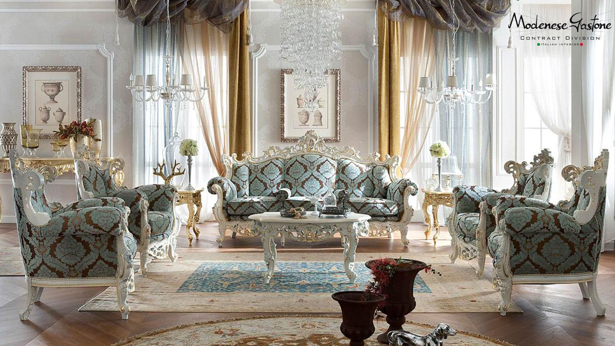 Baroque living room modenese gastone interiors s r l for Living estilo romantico