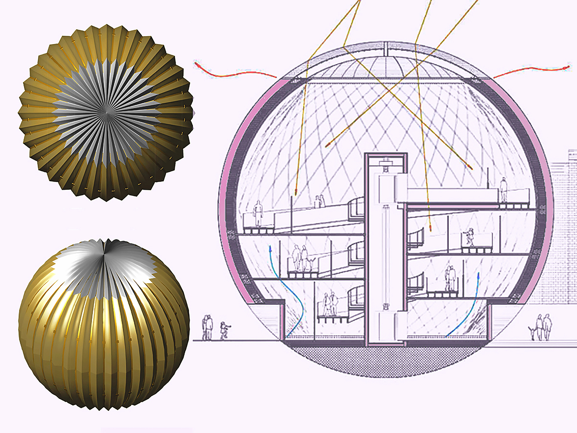Spherical Art Gallery Simone De Gale Architects Archello,Chase Credit Card Designs
