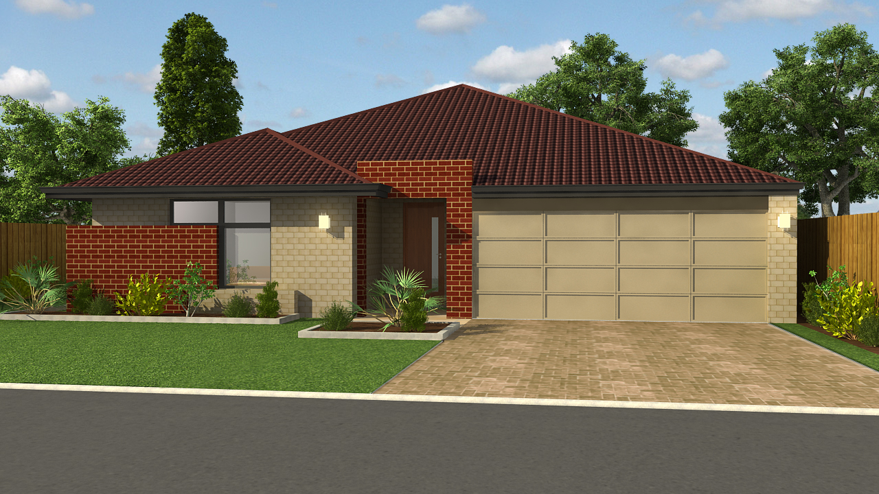Project Sample of 3D Exterior Home Design | CAD Outsourcing ...