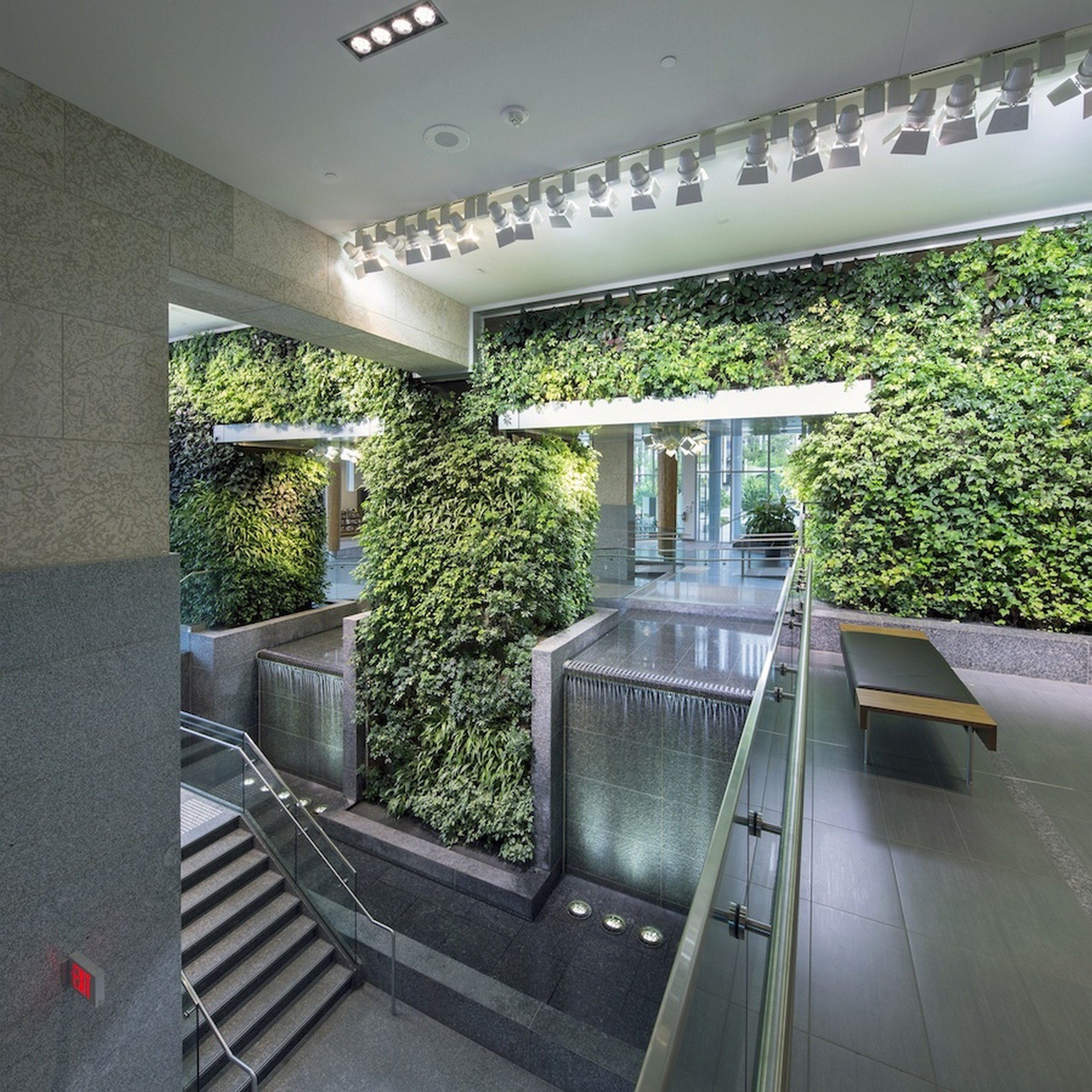 Edmonton federal building living wall biofilter nedlaw - How to make a living wall ...