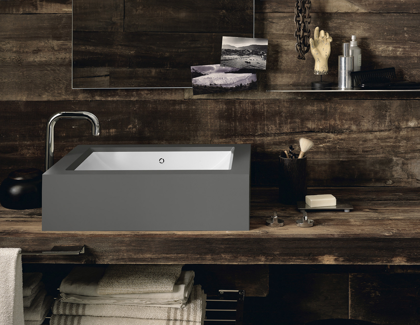 The collection of  DuPont™ Corian® Bathroom Basins