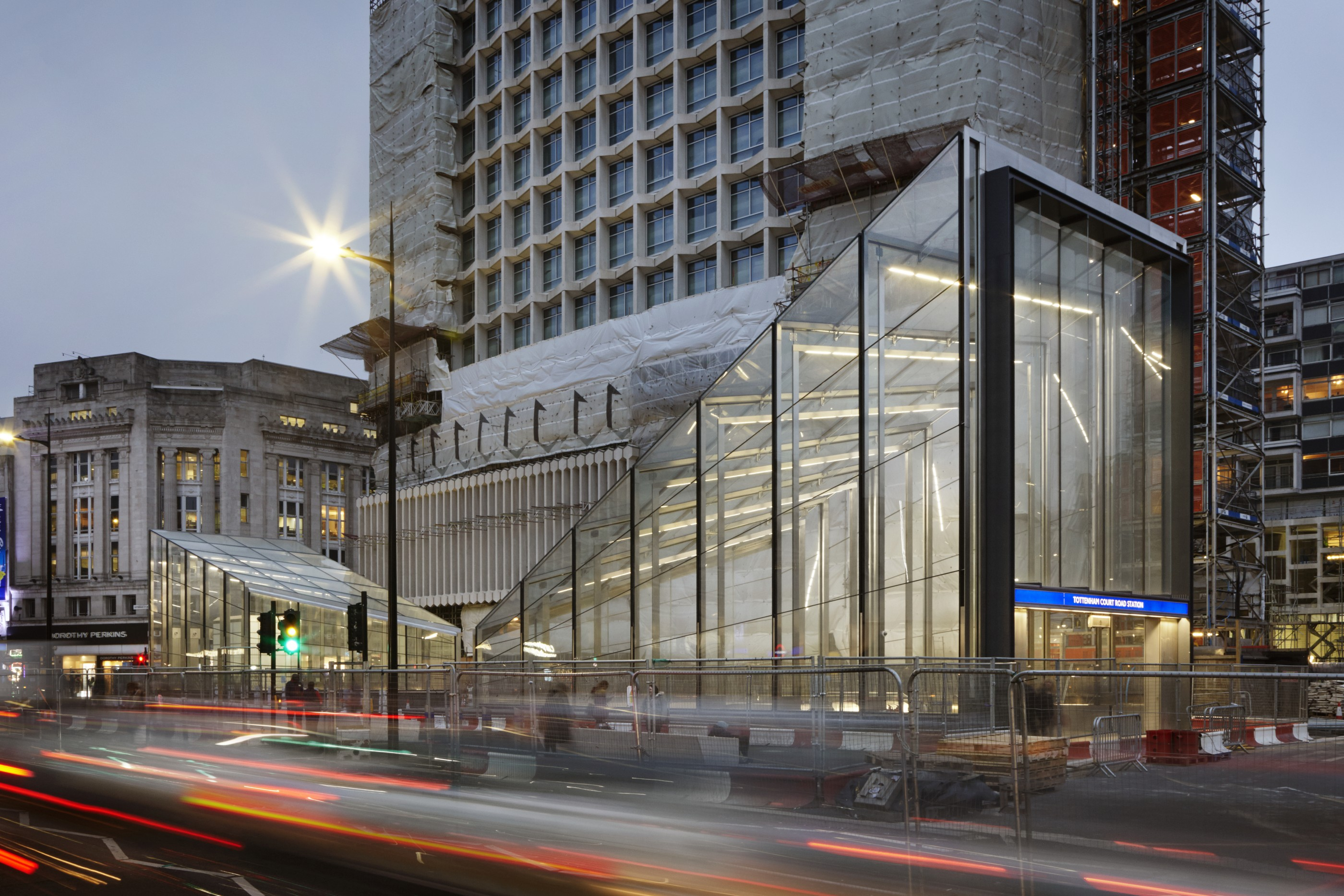 Second Glass Entrance At Tottenham Court Road Underground Station Stanton Williams Archello