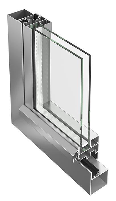 Jansen Economy 50 stainless steel window
