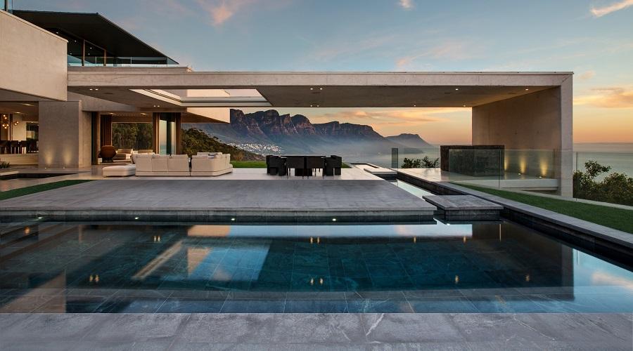 Pool floor tiles