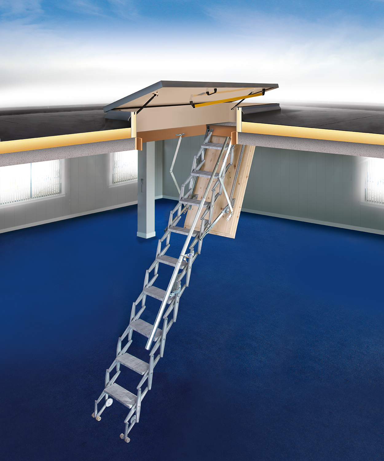 Roof Hatch RHT With Scissor Stairs