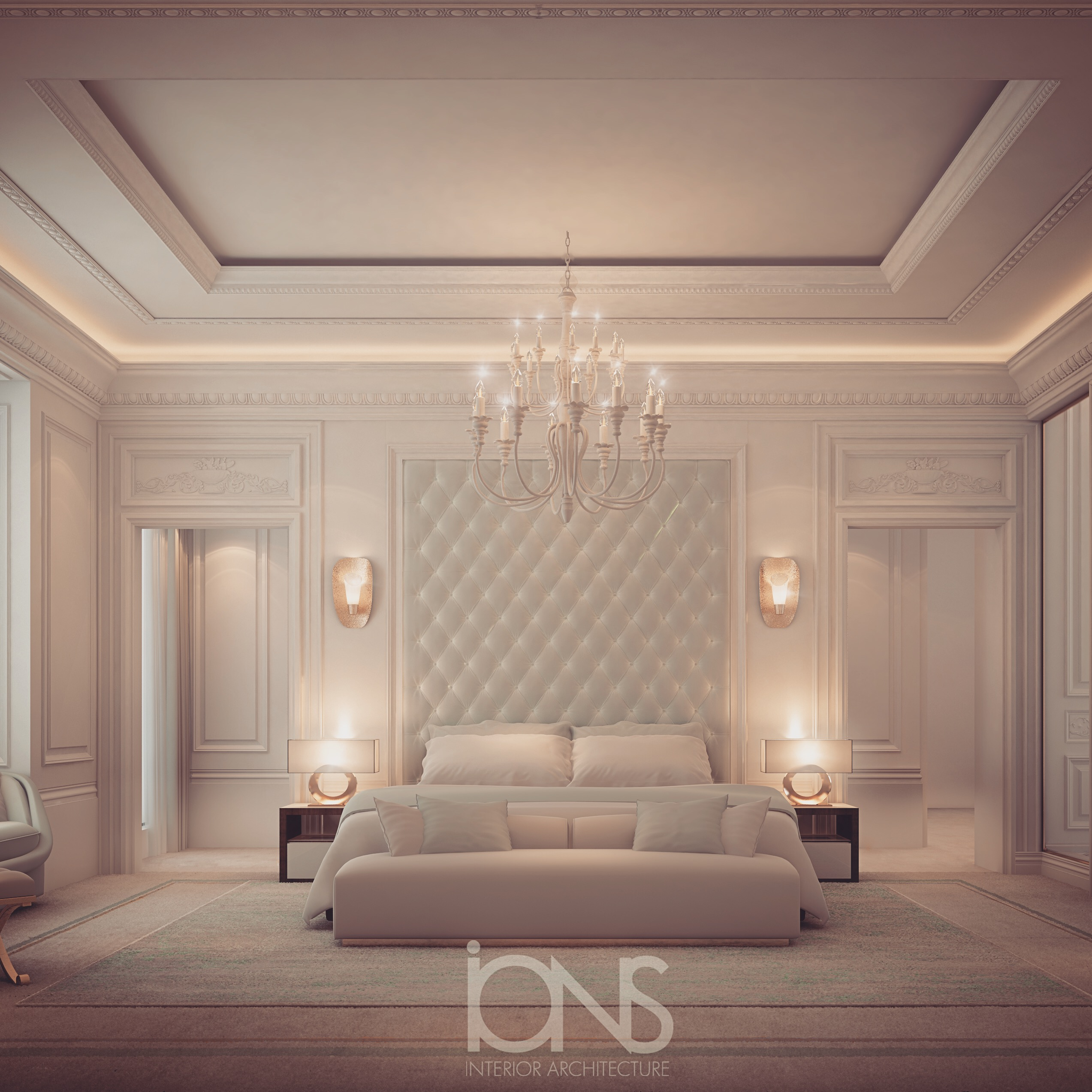 Ions Interior Design Dubai bedroom design in dramatic contrast | ions design | archello