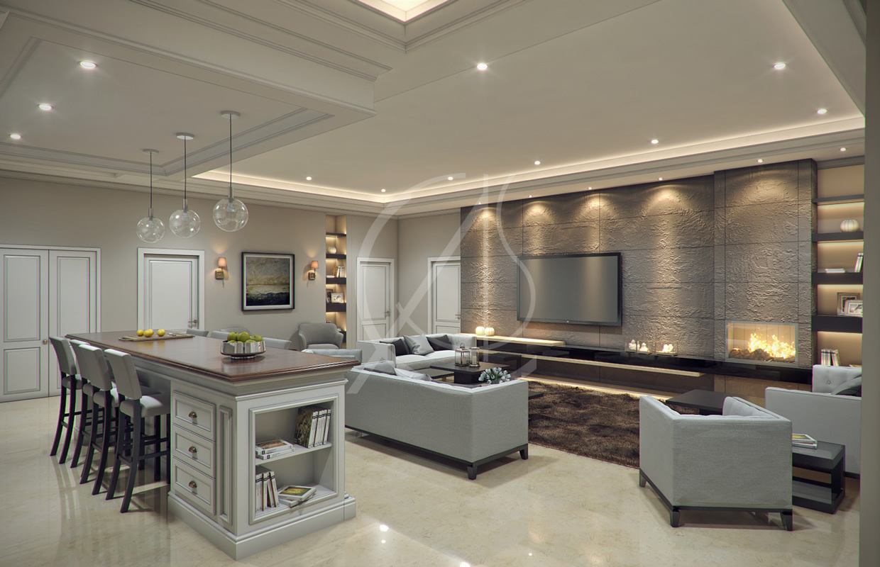 Modern classic villa interior design comelite for Duta villa interior design