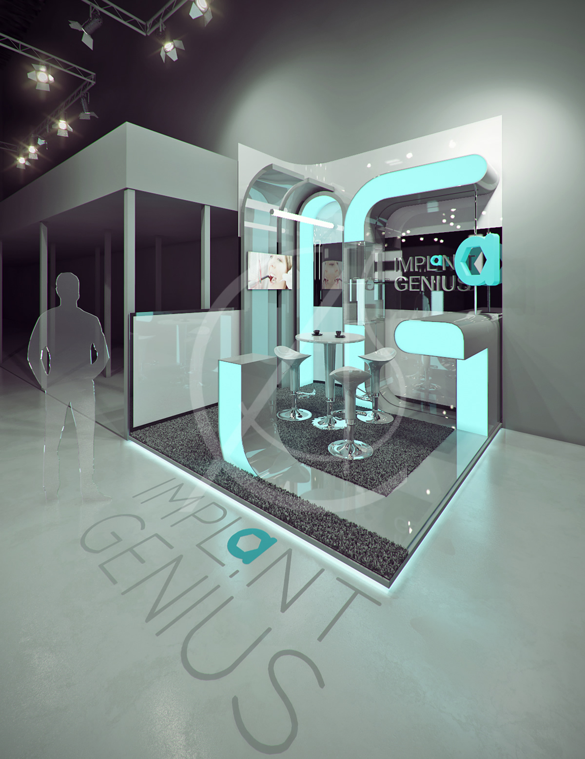 Small Exhibition Stand Year : Dental exhibition booth design comelite architecture