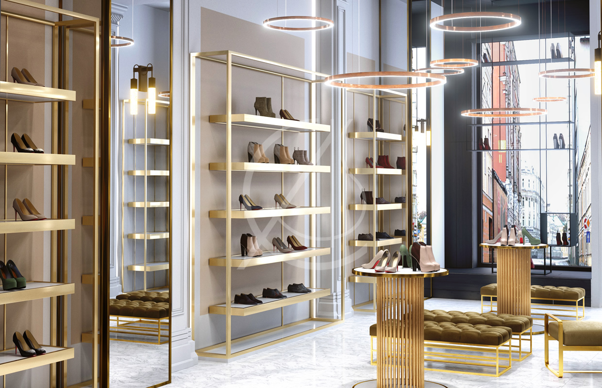 luxury shoe store design comelite architecture structure and