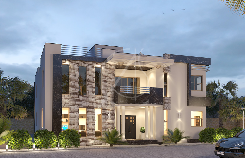 Modern granite residential house design
