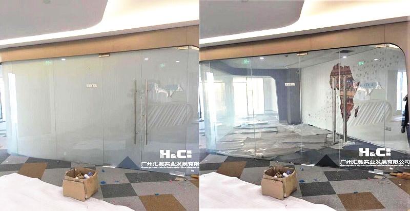 Smart Switchable Glass For Hotel Design Curved Intelligent Glass For Interior Design Guangzhou Huichi Glass Technical Co Ltd Medios De Comunicacion Fotos Y Videos 2 Archello
