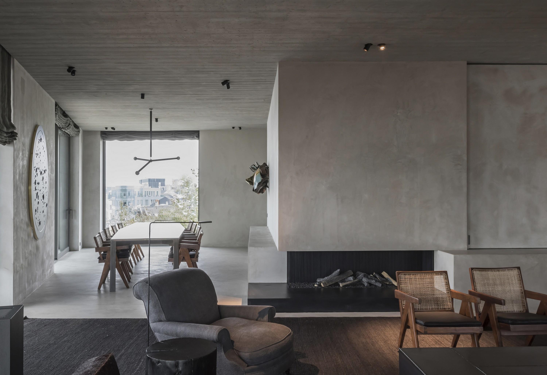 c penthouse vincent van duysen architects archello. Black Bedroom Furniture Sets. Home Design Ideas