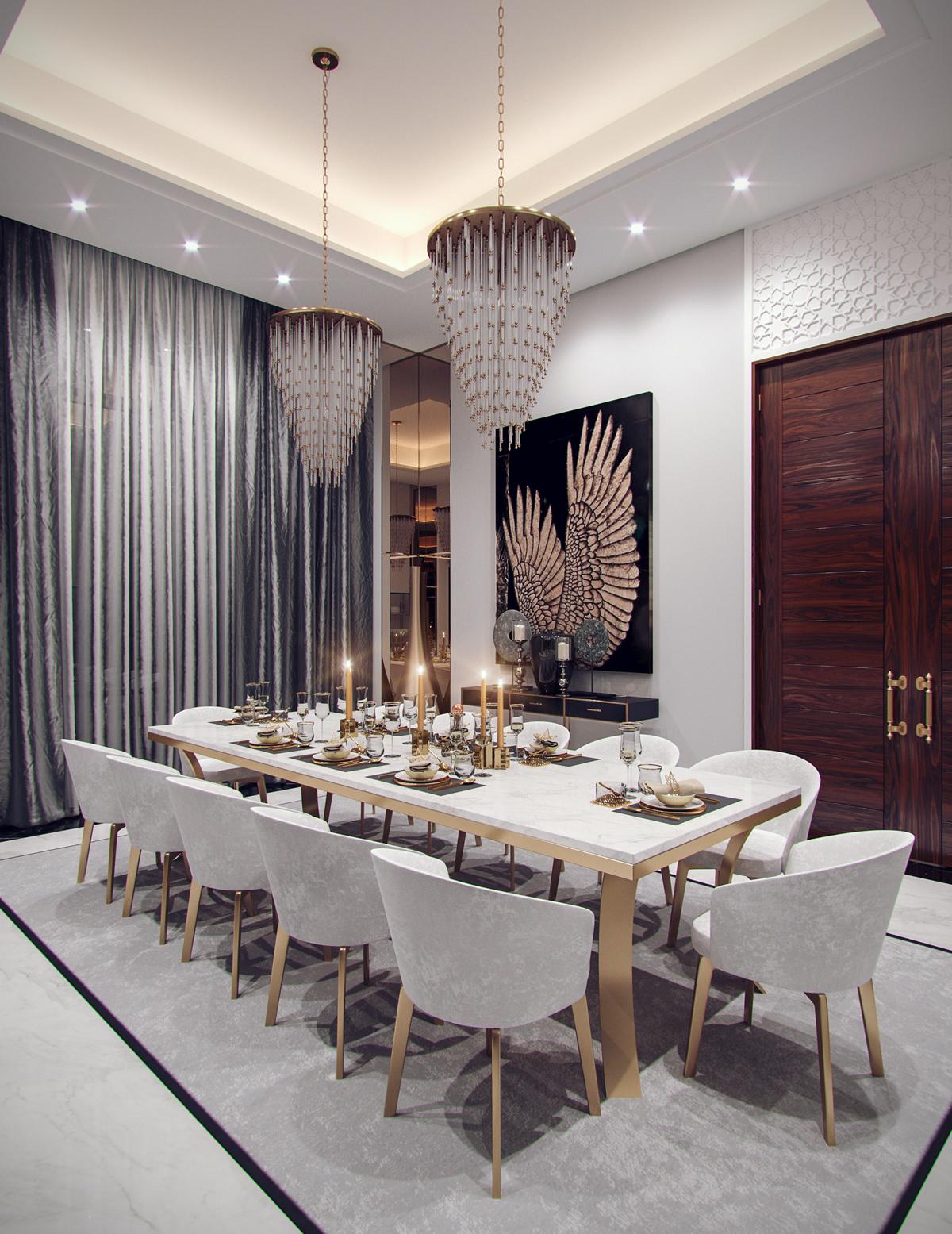 Family villa contemporary arabic interior design