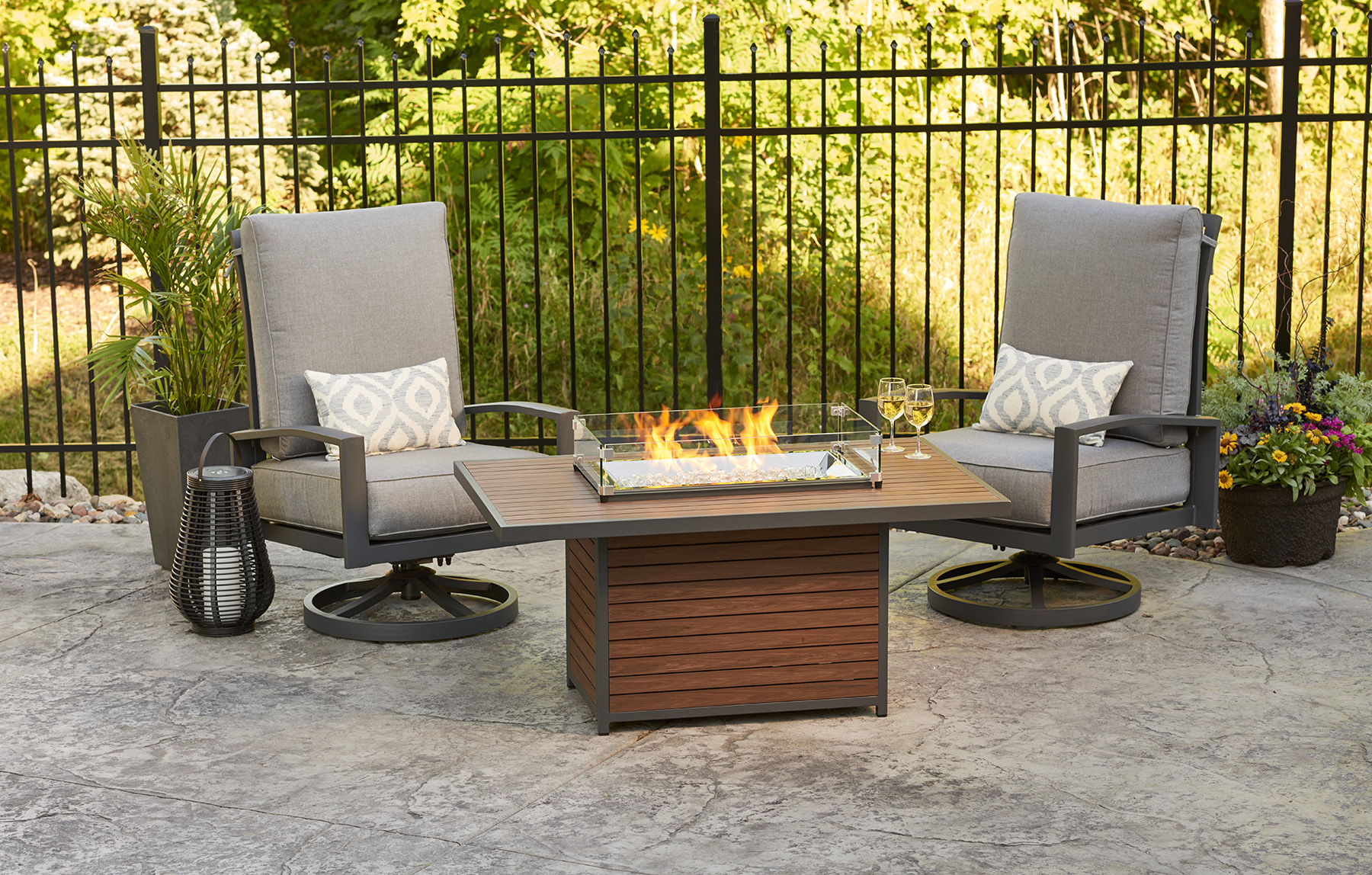 Kenwood Rectangular Gas Fire Pit Table By Outdoor Greatroom