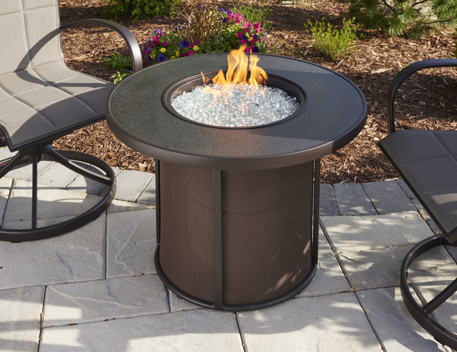 Stonefire Round Gas Fire Pit Table By Outdoor Greatroom Archello