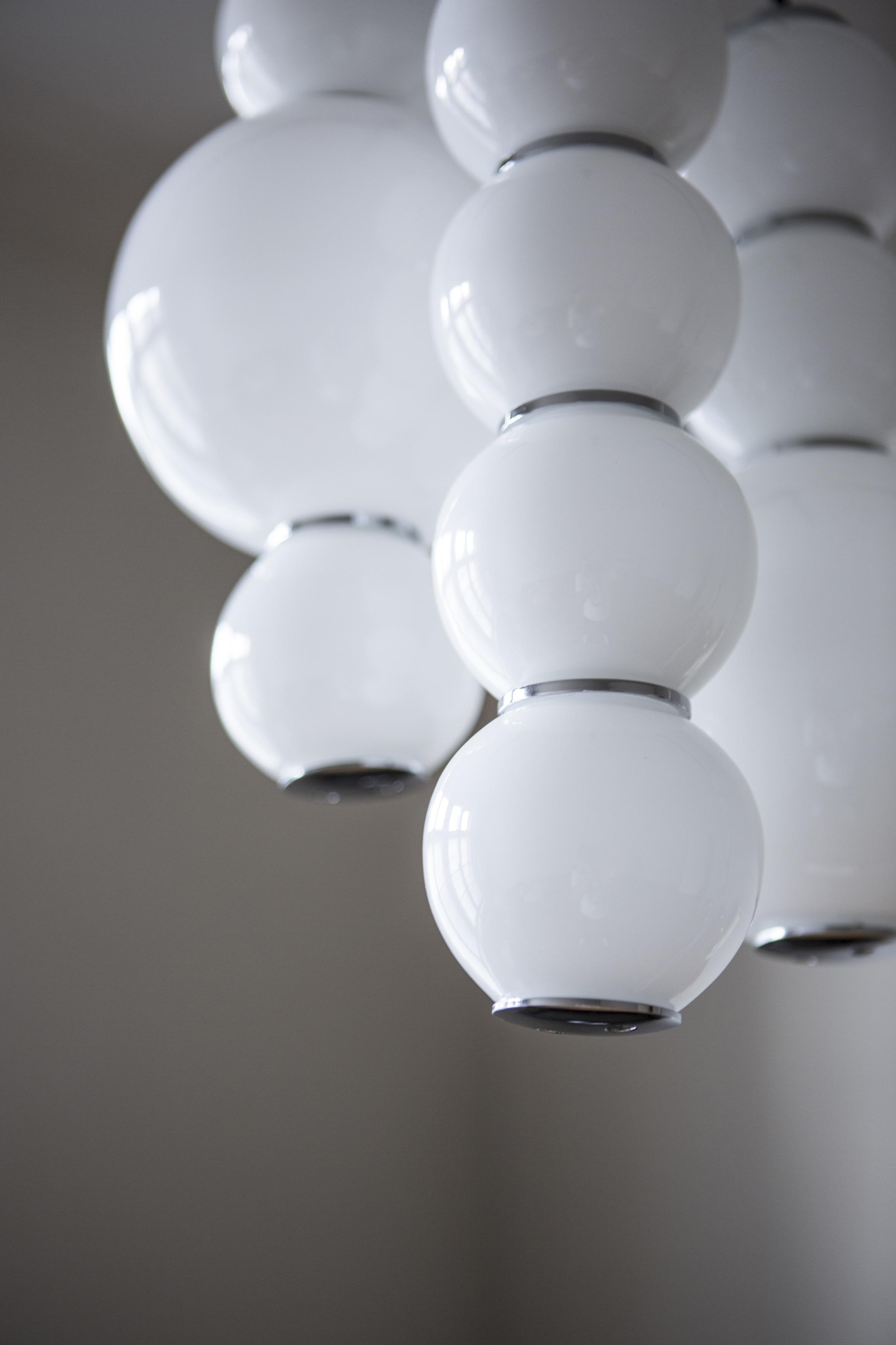 Pearls Chandelier 3 Black / Chrome