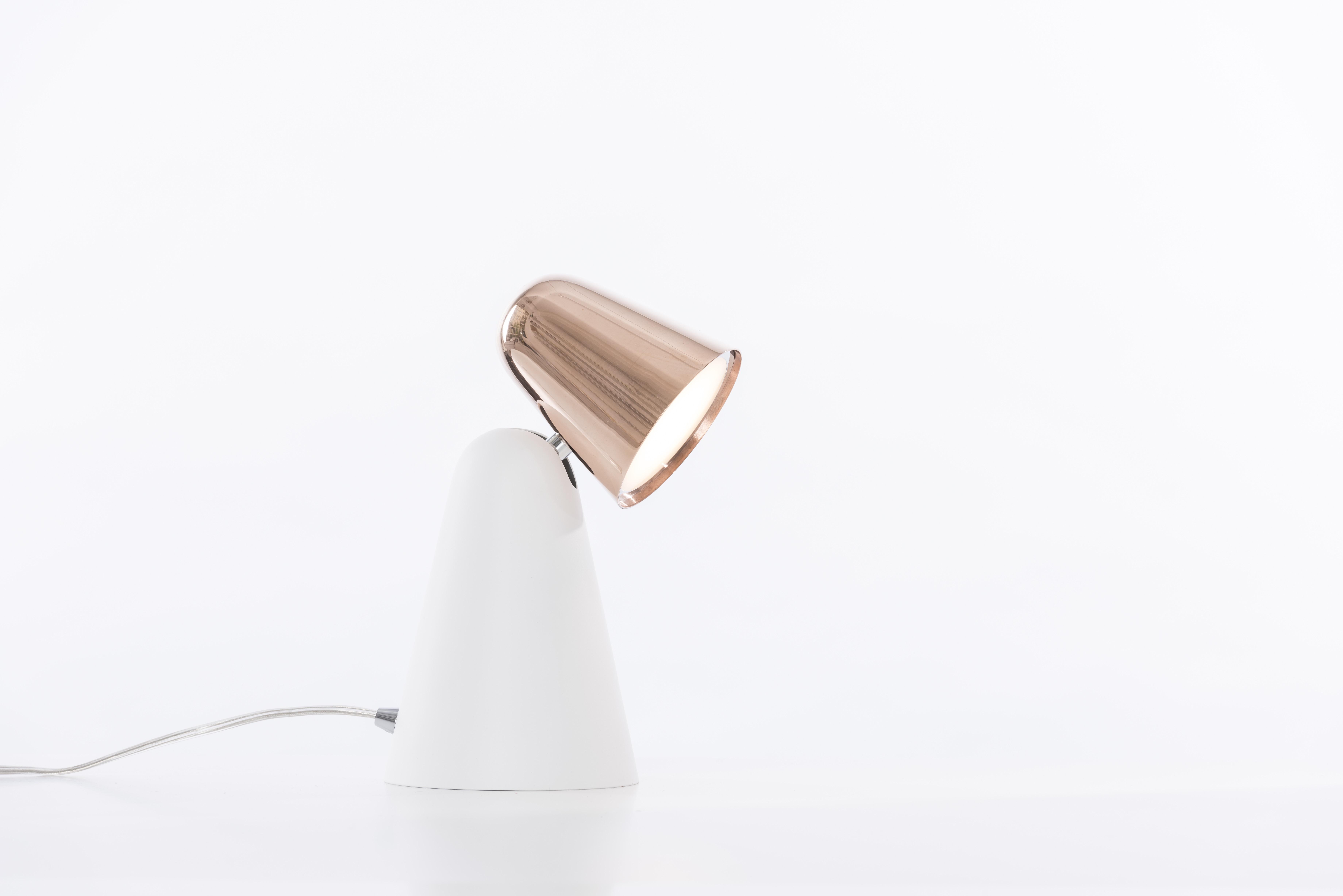 Peppone Table White / Copper