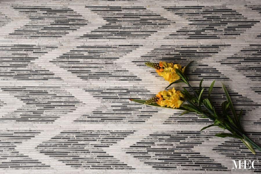 SHEVREN - Ikat Marble Flooring