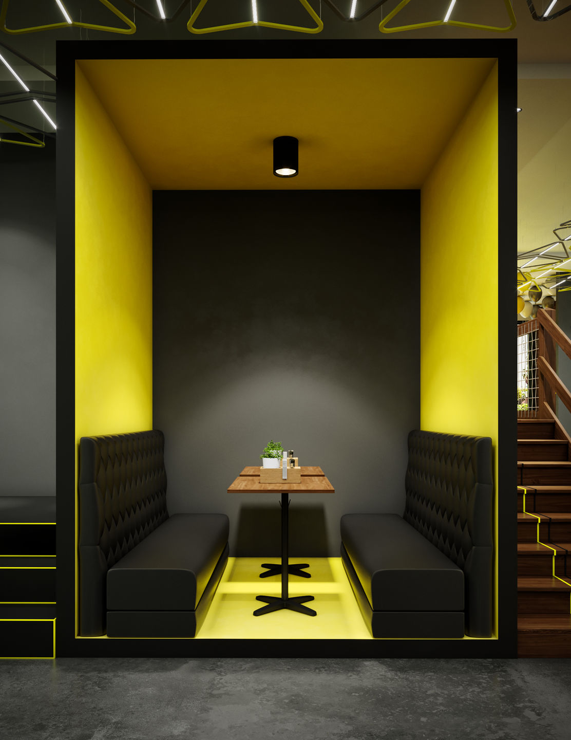 Modern Fast Food Restaurant Interior Design Comelite