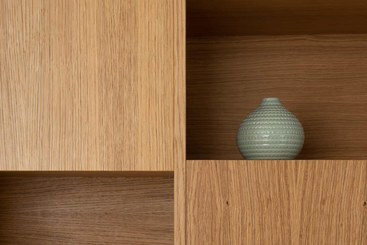 Wood wall with an hidden door