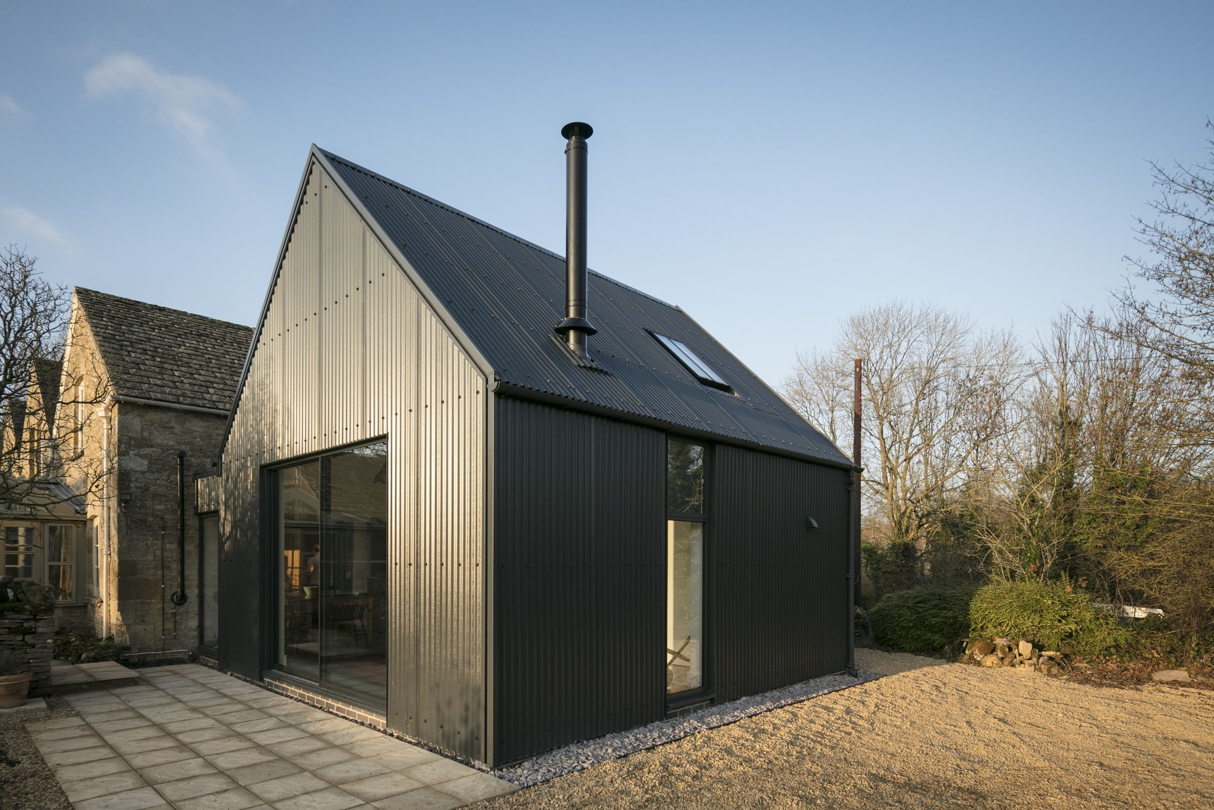 Corrugated Metal Extension Eastabrook Architects Archello
