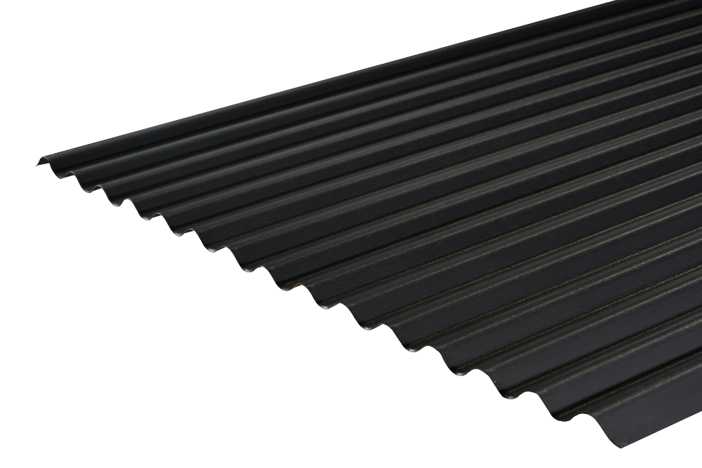 Cladco 13 3 Corrugated Sheets In Anthracite Pvc 0 7mm Thickness By Cladco Archello