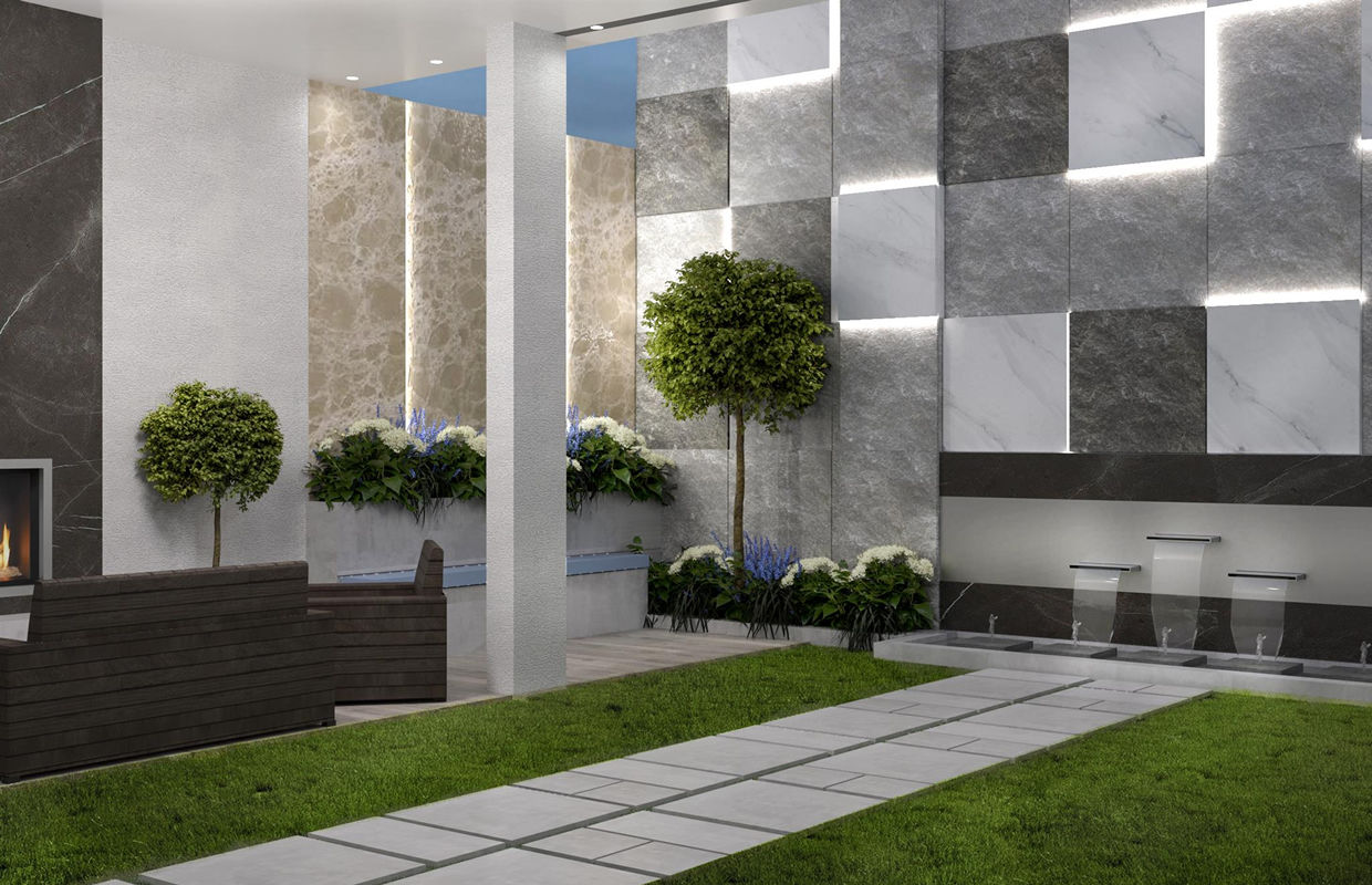 Modern Luxury Indoor Garden Design Comelite Architecture Structure And Interior Design Medien Rendert 2 Archello