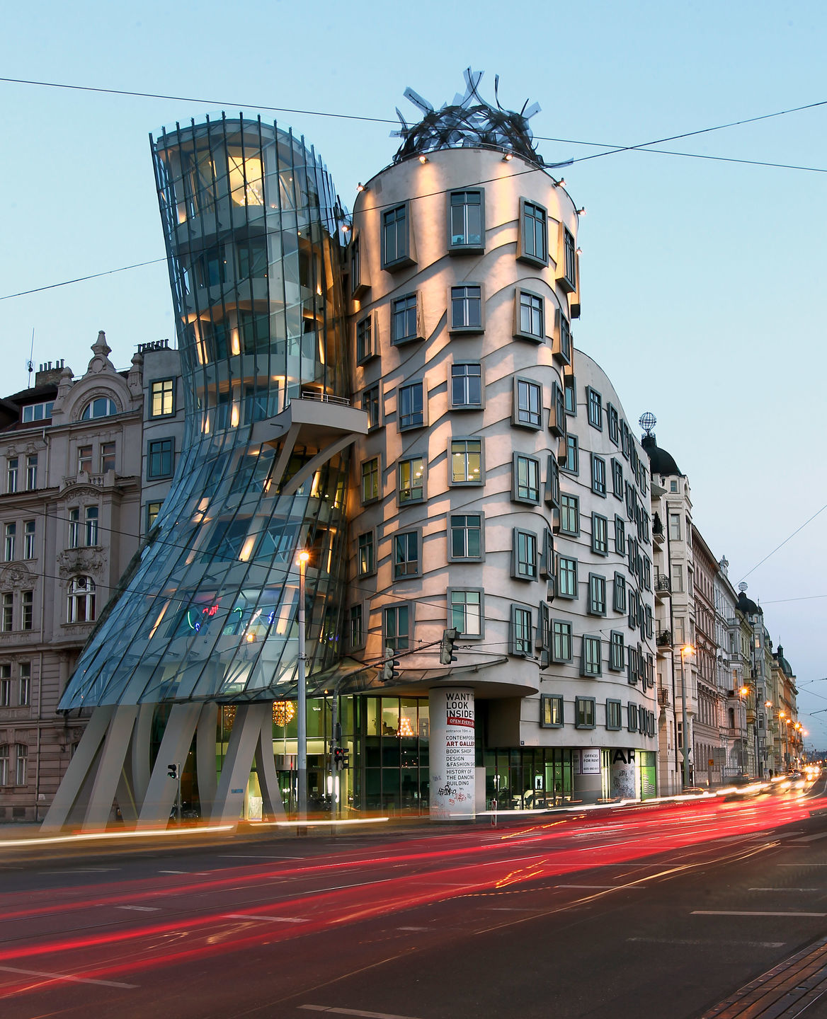 The Dancing House is one of the most famous buildings in the Czech capital.