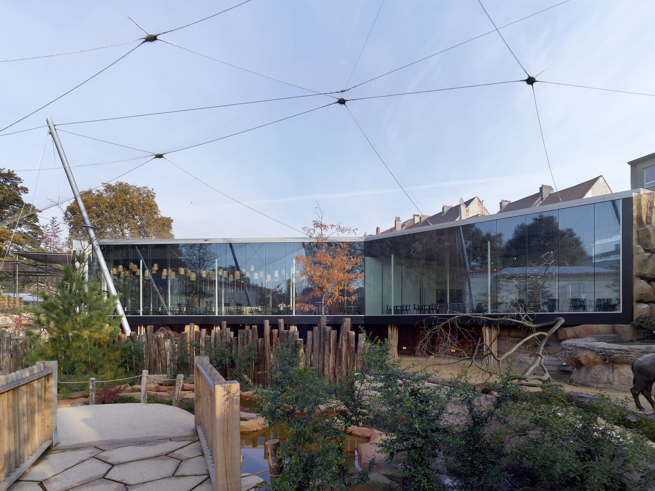 Restaurant And Aviary At The Antwerp Zoo Studio Farris Architects Archello