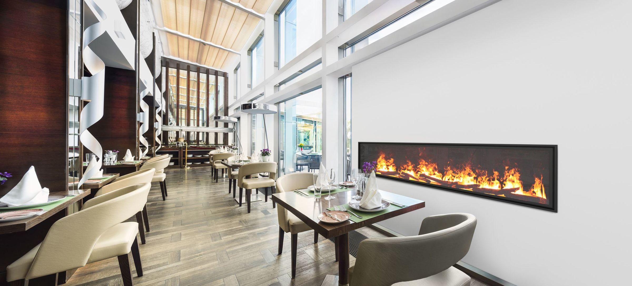 96 Inch Single-Sided | Built-In Linear Vapor-Fire Fireplace