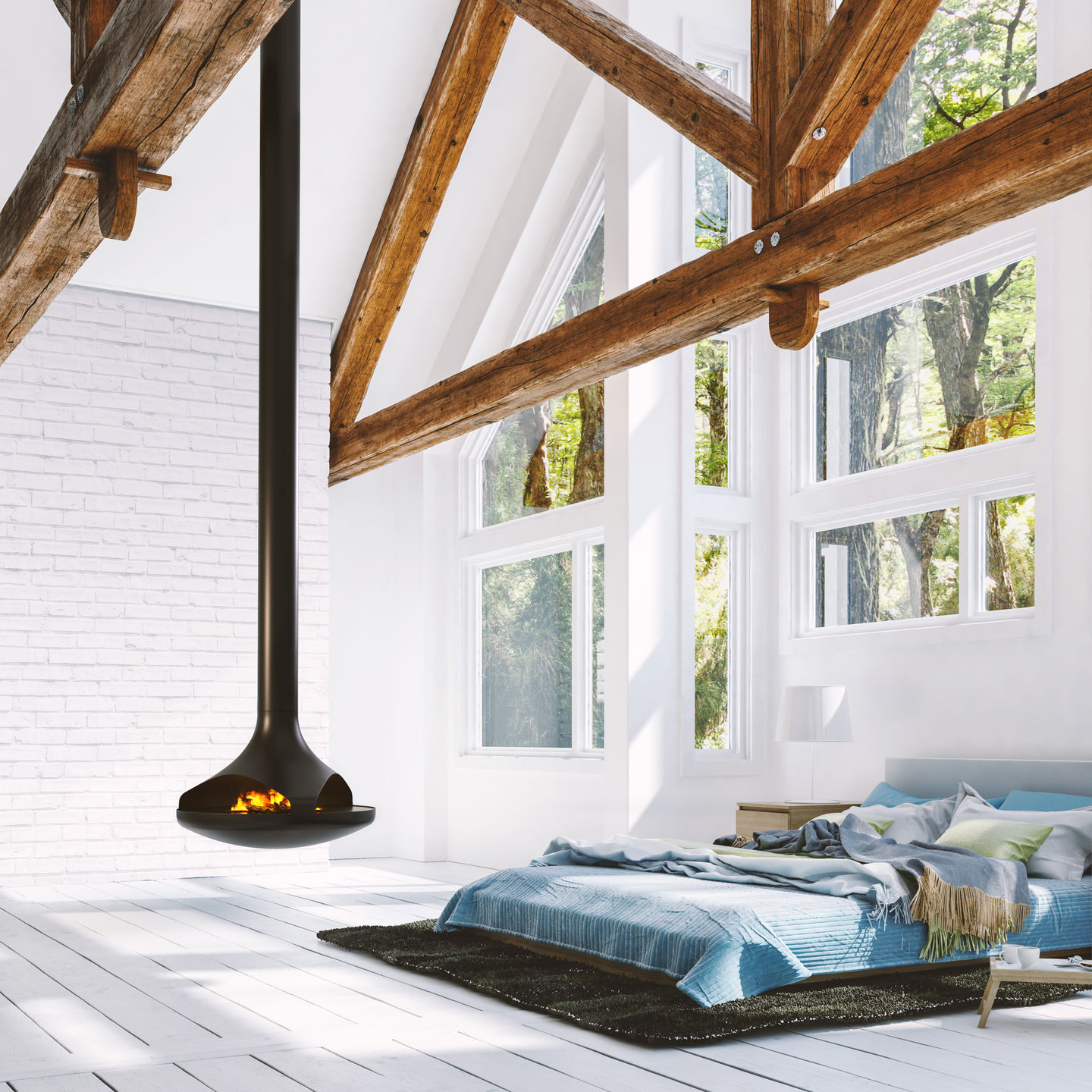 Callista | Double-Sided Suspended Vapor-Fire Fireplace