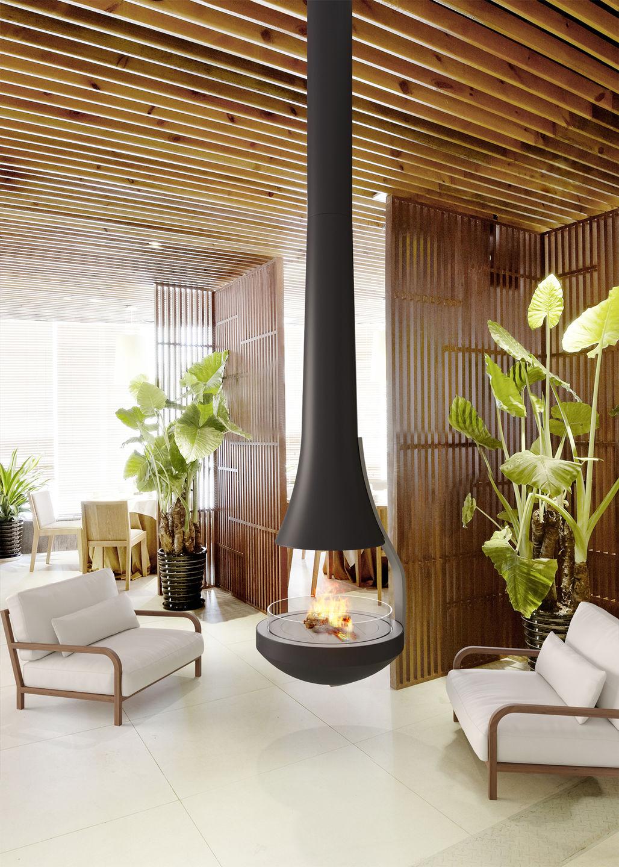 Teia   Suspended Vapor-Fire Fireplace