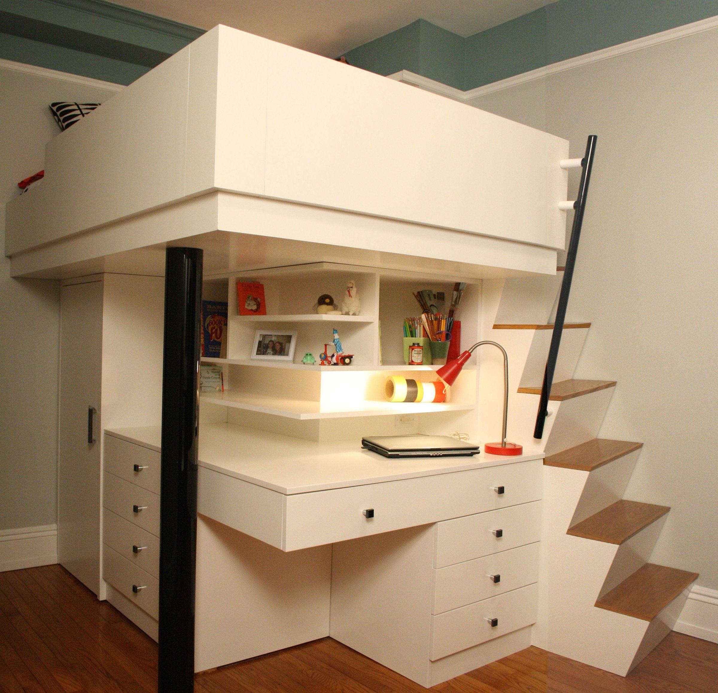 Child S Loft Bed Desk Benjamin Marcus Archello
